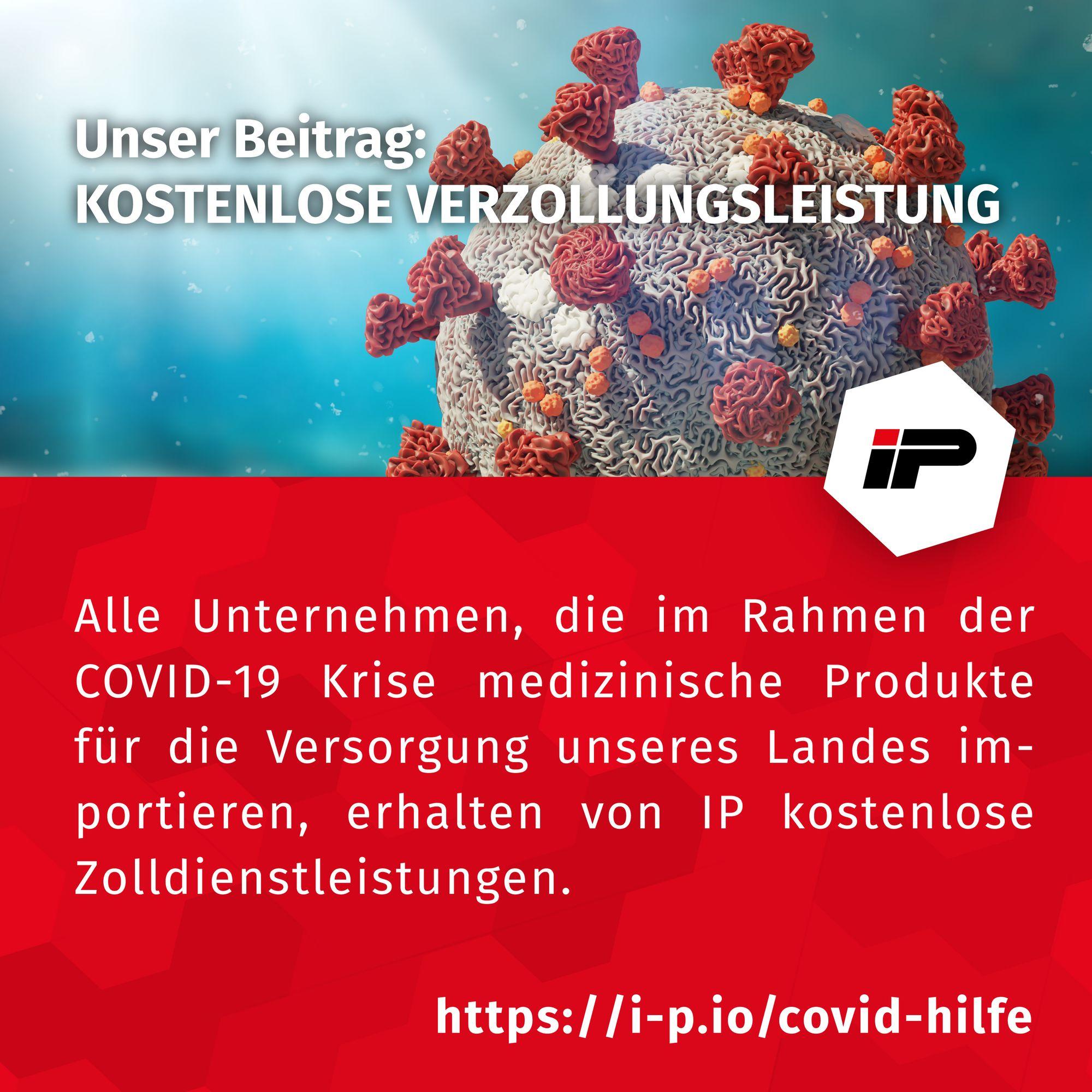 COVID-19 - kostenlose Zolldienstleistung für medizinische Produkte